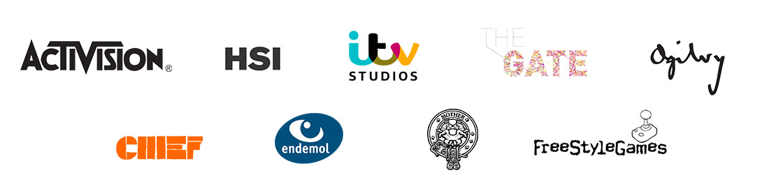 Our Clients: Activision, HSI, Chief, Endemol, ITV Studios, The Gate, Ogilvy, Freestyle Games